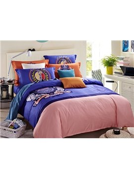 Crown Print European Style 4-Piece Duvet Cover Sets