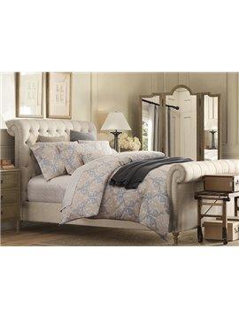 Exquisite European Jacquard 4-Piece Cotton Duvet Cover Sets