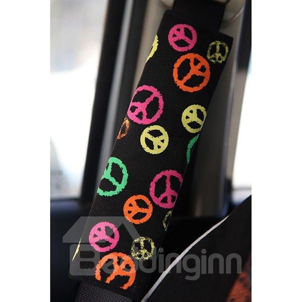 Meaningful Anti-War Symbolic Pattern Car Seat Belt Cover