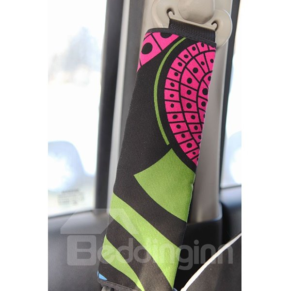 Concise Abstract Patterned Car Seat Belt Cover