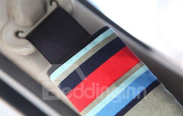Random Colored Stripe Patterned Car Seat Belt Cover
