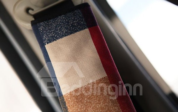 Colorful Concise English Style Car Seat Belt Cover