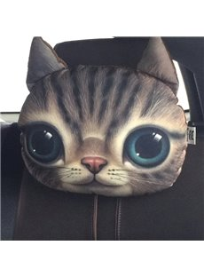 Creative Personalized Cute Kitten Face Car Seat Pillows