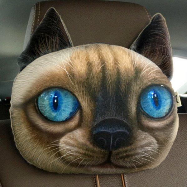 Humorous Personalized Berman Hair Face Car Seat Pillows