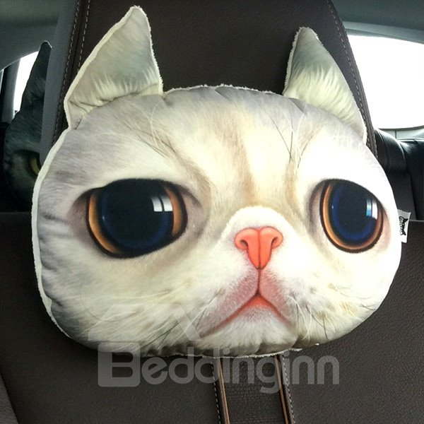 Humorous Personalized Beautiful Kitten Face Car Seat Pillows