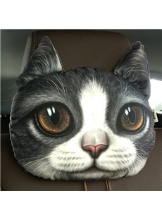 Humorous Personalized Kitten Face Car Seat Pillows