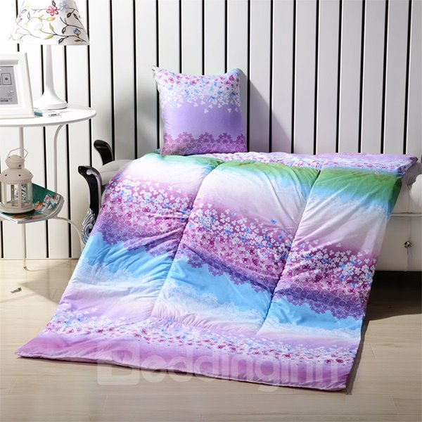 Extra Floffy Convertable Quillow Color Gradient Patterned Blanket Car Pillow
