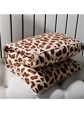 Cozy Leopard Patterned Convertable Blanket Car Pillow