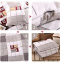 Soft Convertable Quillow Lattice Patterned Blanket Car Pillow