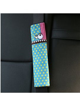 Creative Cartoon Figured Shape Teeth Monster Seat Belt Cover