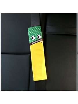 Creative Cartoon Figured Zip Mouth Monster Seat Belt Cover
