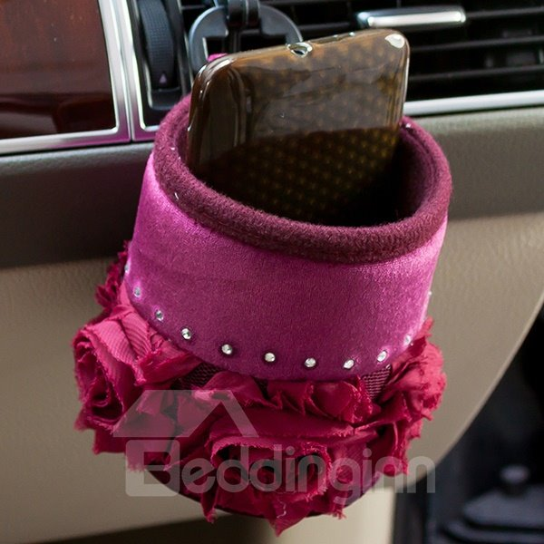 Elegent Red Rose Crystal Car Phone Holder