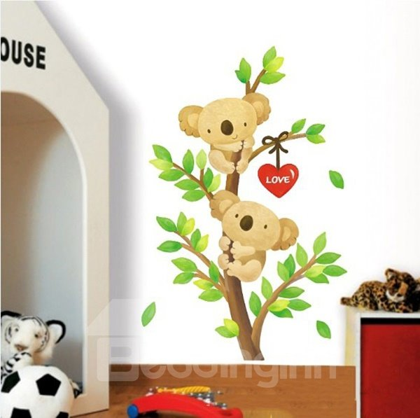 Cute Koala Bears on a Tree Nursery Kidsroom Removable Wall Sticker