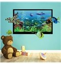 Cartoon Sea World Colorful Sea Fishes Nursery Removable 3D Wall Sticker