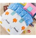 Lovely Fox and Paws Pattern Kids Duvet Cover Set