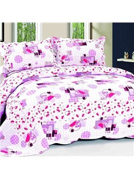 Creative Design Pink 3-Piece Cotton Bed in a Bag