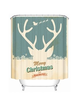 Pretty Concise Artistic Milky-white Deer Shower Curtain