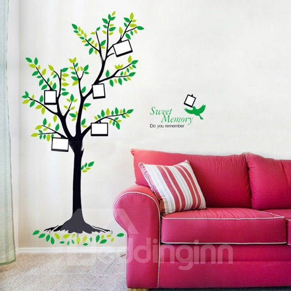 Creative Tree Design Photo Frame Removable Wall Sticker