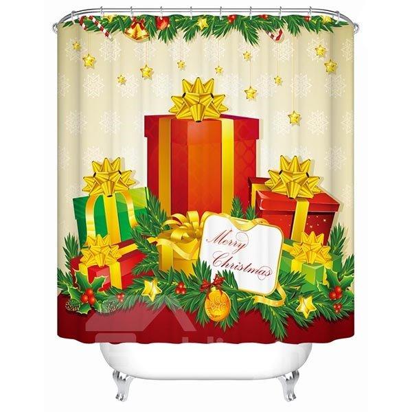 Wonderful Fabulous Festive Christmas Presents Printing 3D Shower Curtain