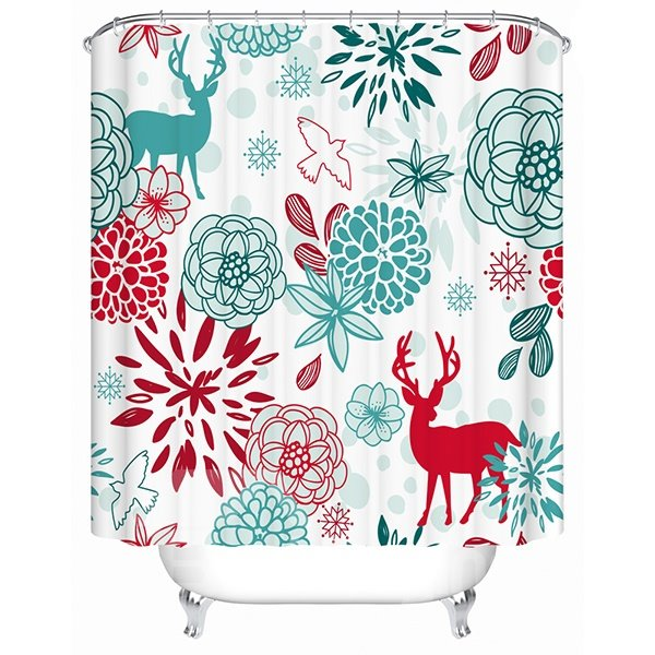 Creative Design Beautiful World of Life Shower Curtain