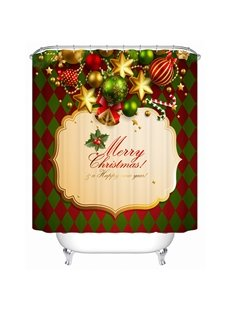 Wonderful Stunning Happy Christmas Ingredients Shower Curtain