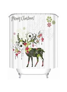 Artistic Design Pretty Concise Christmas Deer Shower Curtain