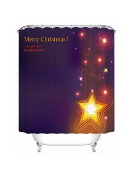 Stunning Dreamlike Christmas Tinkle Stars Shower Curtain