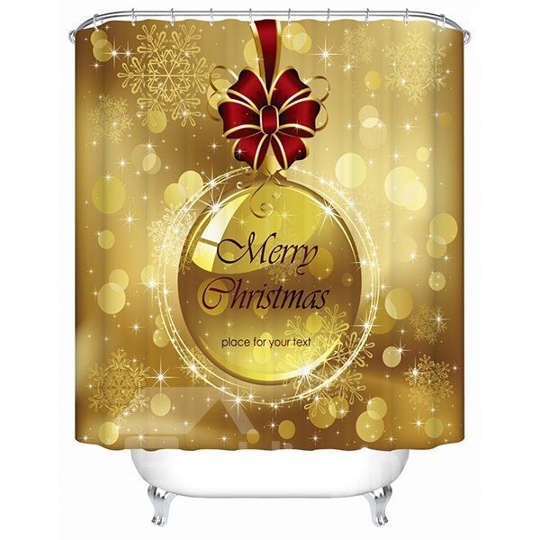 Wonderful Dreamlike Stunning Bow-knot and Bauble Shower Curtain