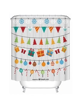Brisk Fashion Concise Christmas Ingredients Gather Shower Curtain