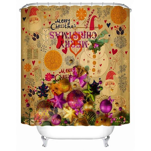 Wonderful Fabulous Unique Design Brisk Christmas Party Shower Curtain