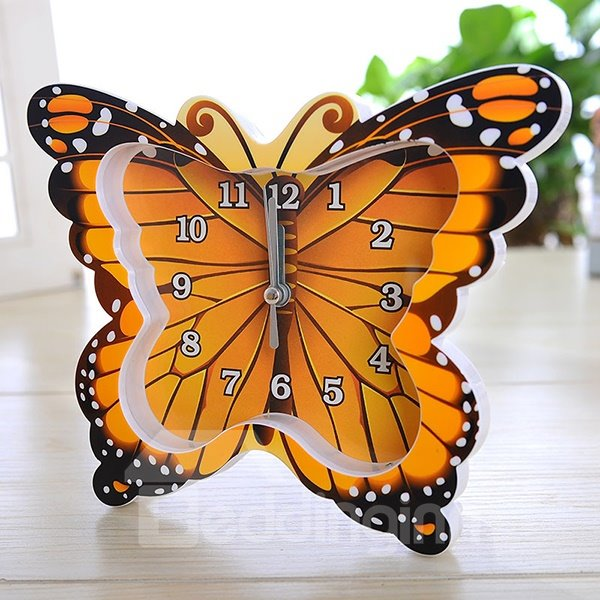 Wonderful 4-Color Butterfly Design Desk Clock Desktop Decoration