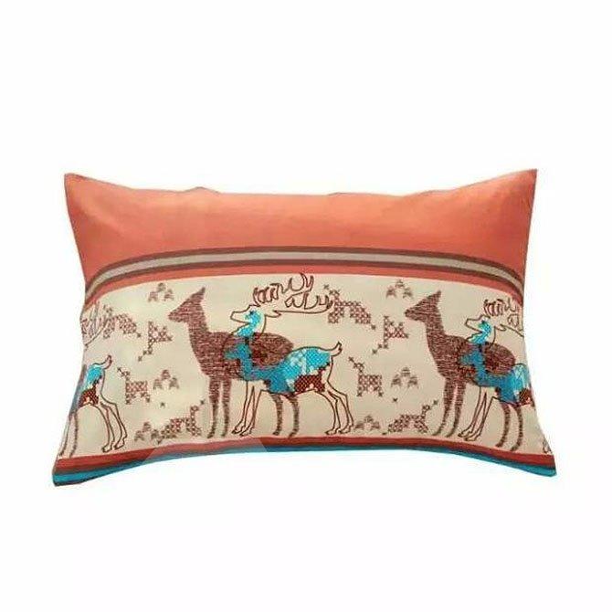 Christmas Reindeer Print High-class Cotton 4-Piece Duvet Cover Sets