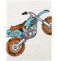 Pure Cotton Light Gray Motorcycle Print Kids Pajamas