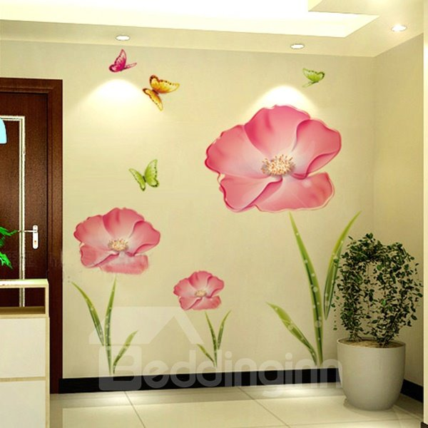 Beautiful Flowers Pattern Extra Large Removable Wall Sticker
