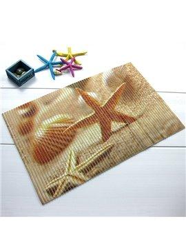 Wonderful Starfish Pattern Anti-Slipping Water-Resistant Bathroom Doormat