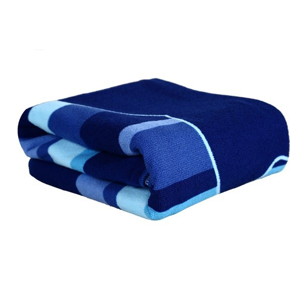 Fashion Dark Blue Dolphin Printing Bath Towel
