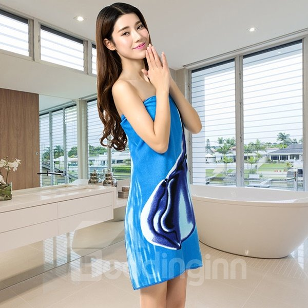 Fashion Brisk Dolphins Printing Bath Towel