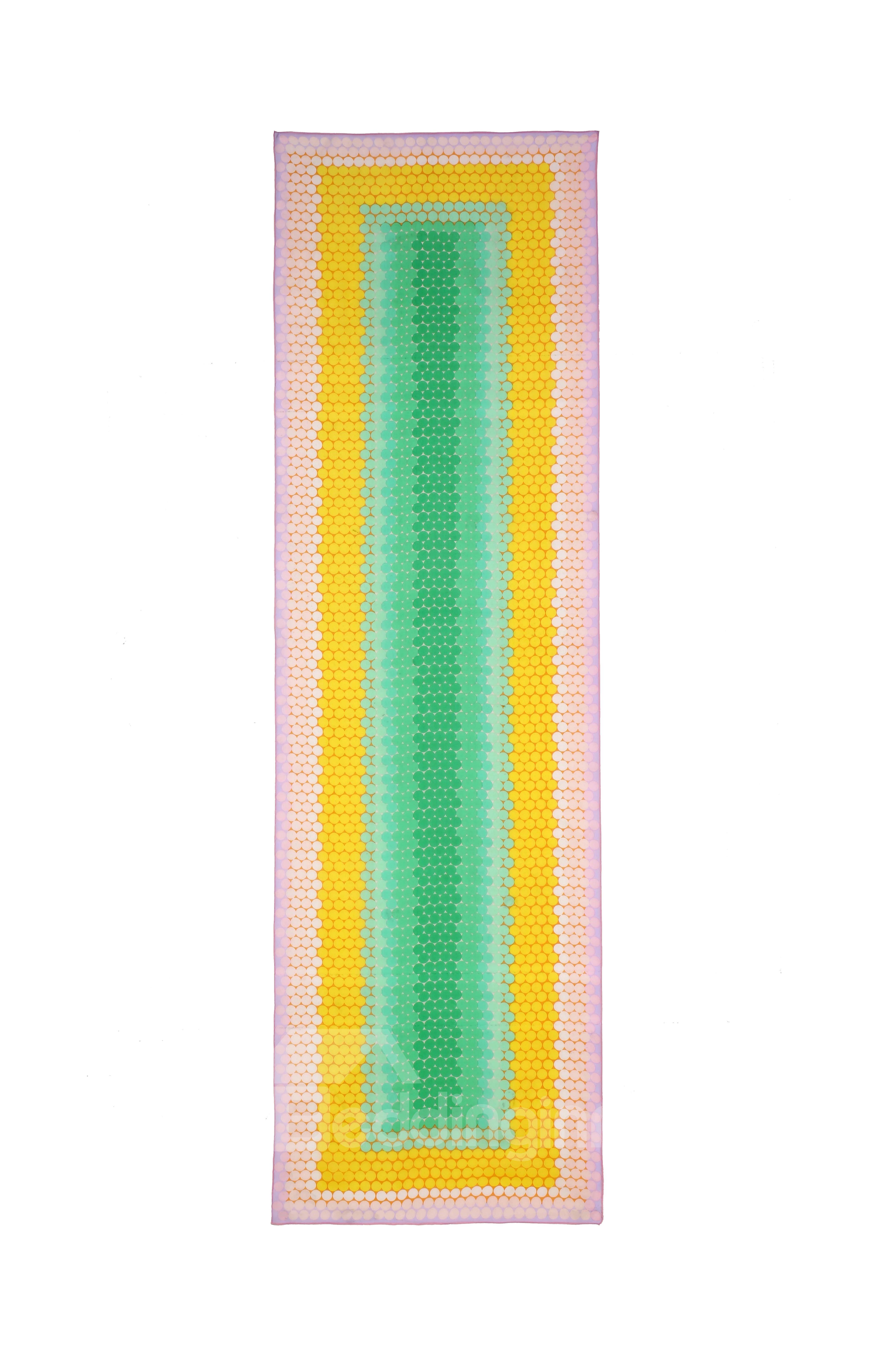 Fresh Rainbow Color Mulberry Silk Long Scarf