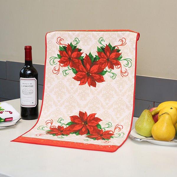 Noble Graceful Red Flowers Ultrafine Fiber Face & Hand Towel