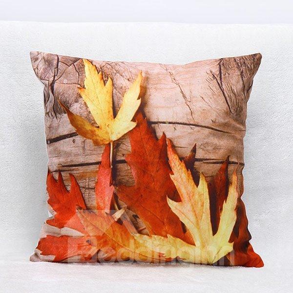 3D Maples Print Cozy Throw Pillow Case