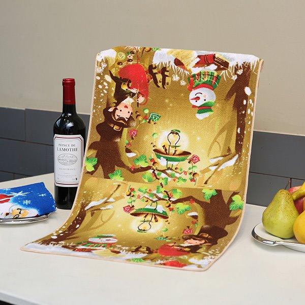 Fabulous Brisk Fairytale Forest Printing Ultrafine Fiber Towel