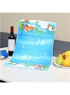 Resplendent World of Ice and Snow Ultrafine Fiber Towel