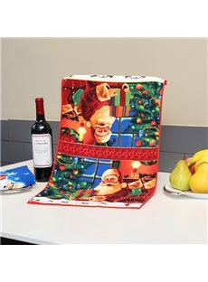 Cosy Warm Santa in House Christmas Theme Face & Hand Towel