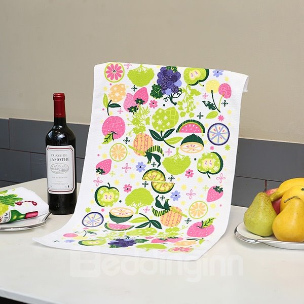 Fresh Concise Fruits Party Printing Ultrafine Fiber Towel