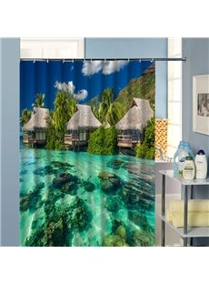 Fabulous Wonderful Outdoor Beach Scenery 3D Shower Curtain