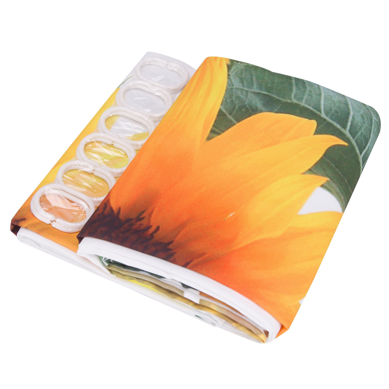 Attractive Modern Happy Sunflowers 3D Shower Curtain