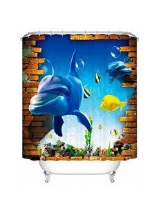Brisk Dynamic Underwater World 3D Shower Curtain