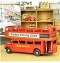 Classic London Touring Bus Open-Top Double Decker Desktop Decorations