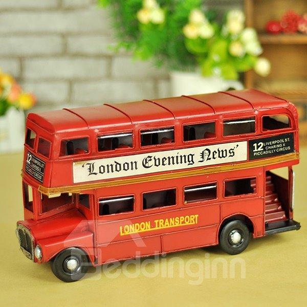 Classic Mini London Bus Double Decker Desktop Decorations