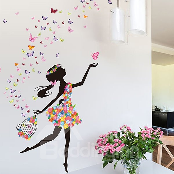 80 Wonderful Flower Fairy And Butterfly Bedroom Nursery Removable Wall  Sticker